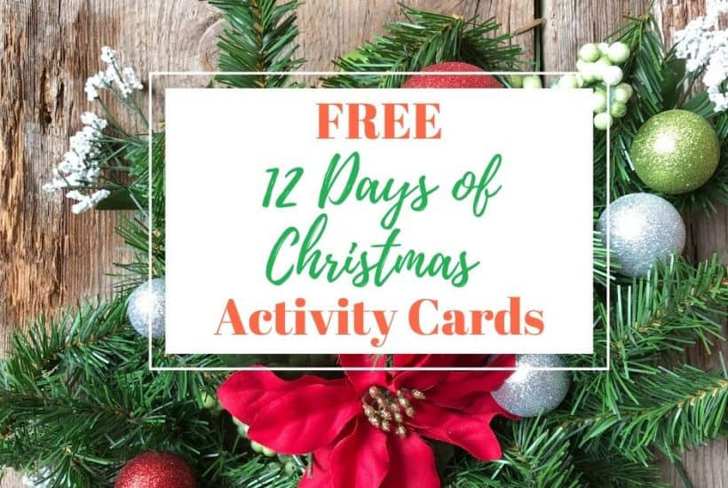 12 days of Christmas activity cards
