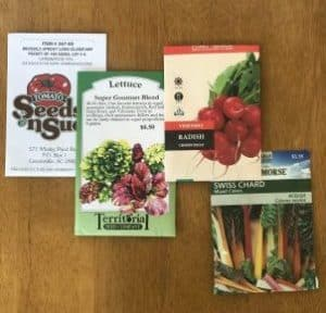 Fall seed packets
