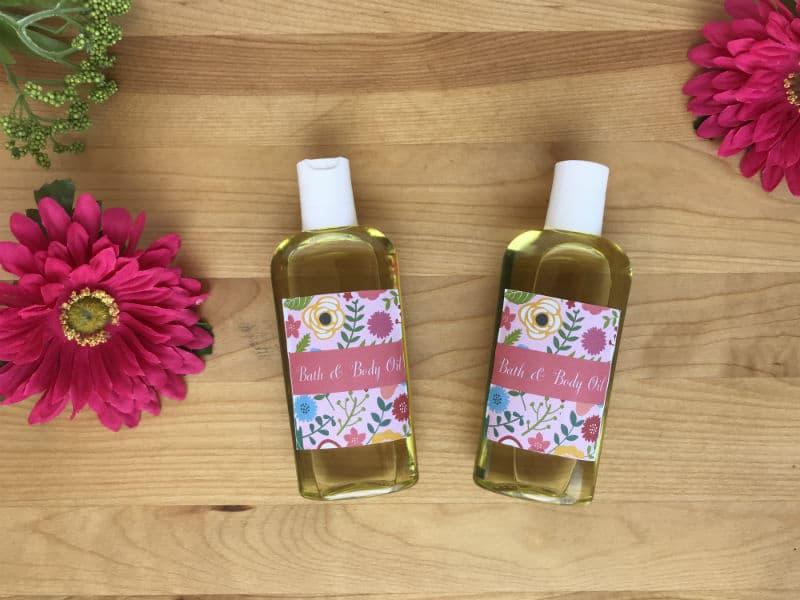 Bath and body oil