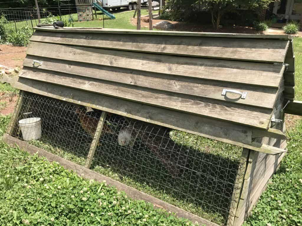 A chicken ark, also called a chicken tractor.