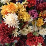 Fall mums (and other flowers) from the Dollar Tree.