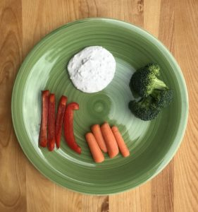 French Onion Dip and Veggies