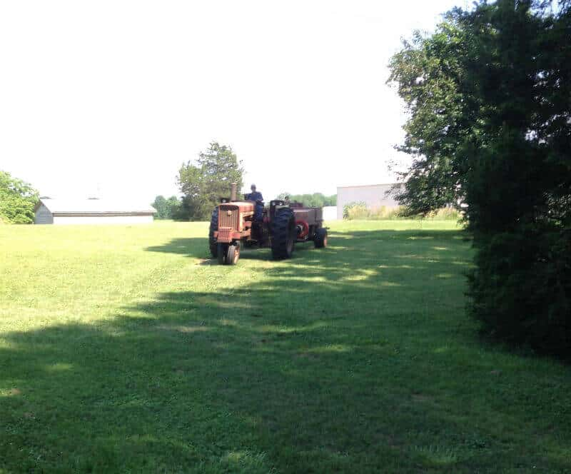 Getting ready to bale hay
