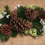 Pinecones as table decor | decorating with pinecones