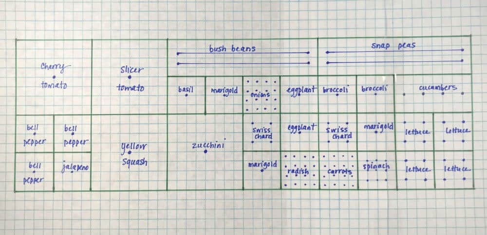 Sample garden plan