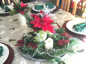 Christmas tablescape, family Christmas traditions