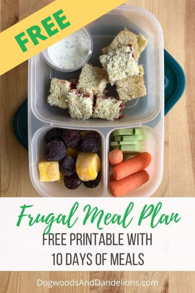 Frugal meal plan contains an easy diy lunchable