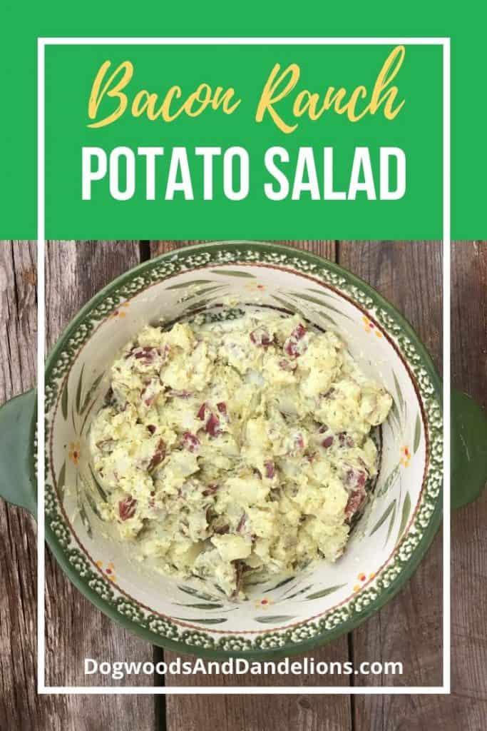 Bacon Ranch Potato Salad in a bowl