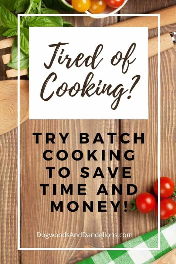 batch cooking saves time and money
