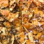 sheet pan nachos closeup