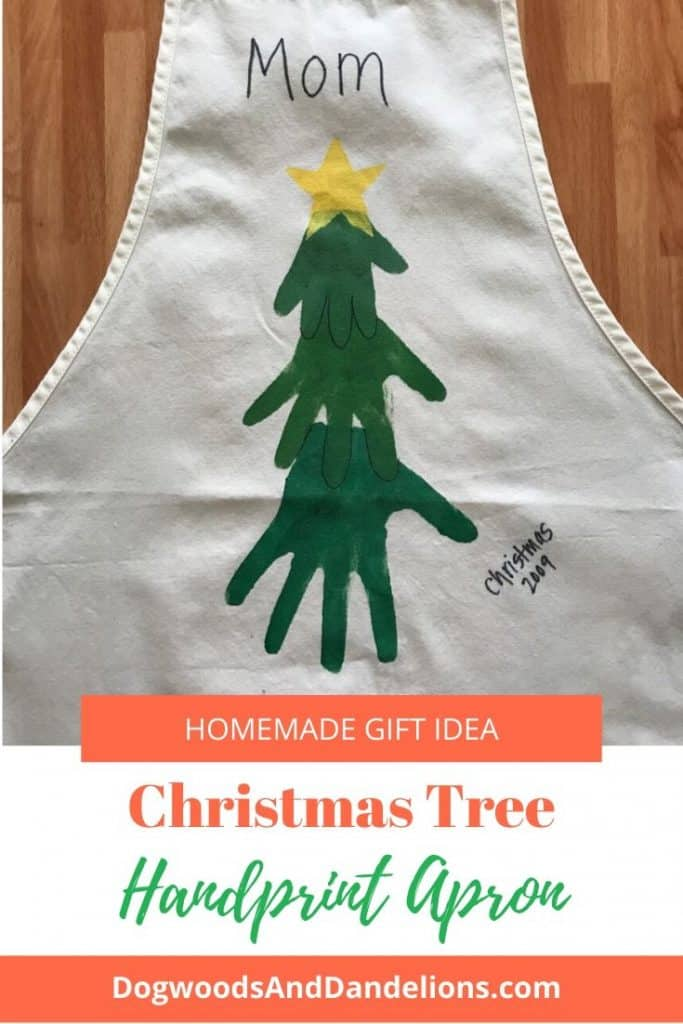 Hand prints on an apron