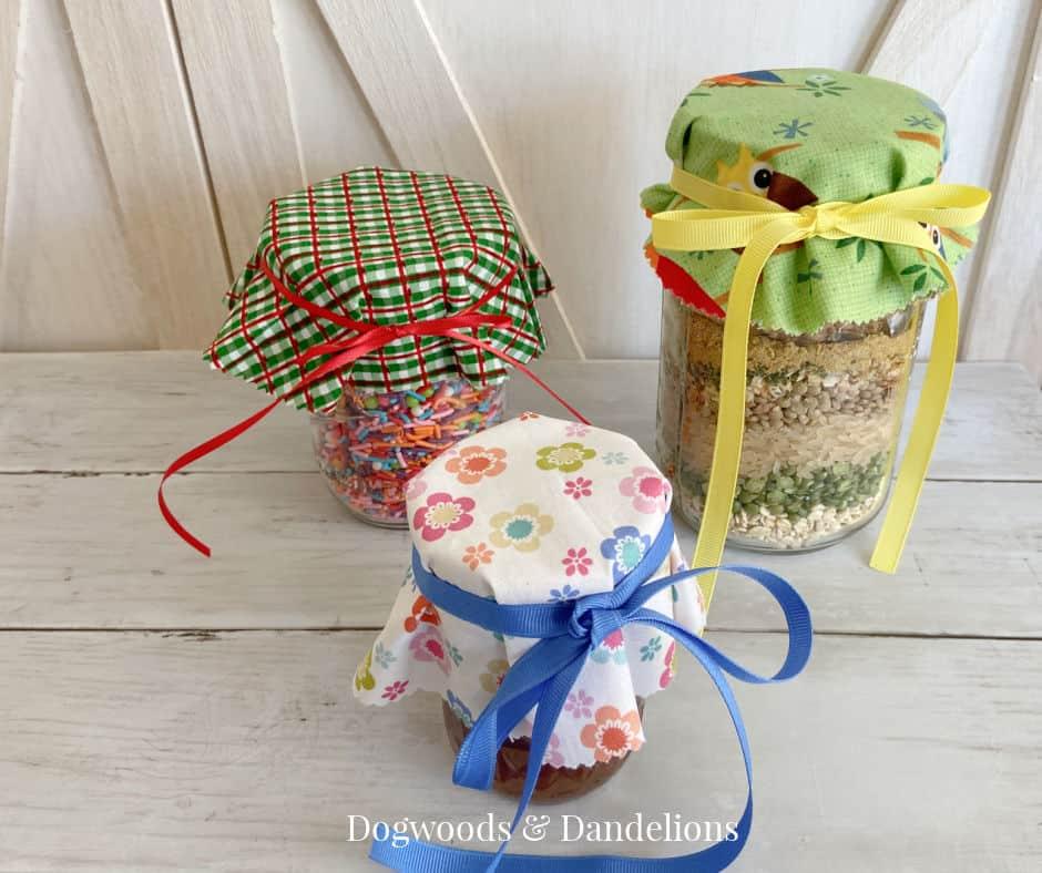 mason jars on a wooden background