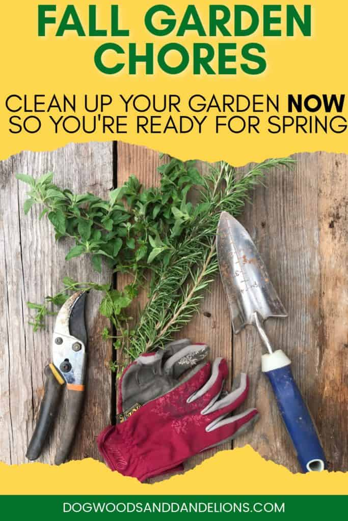 garden tools need to be cleaned in the fall