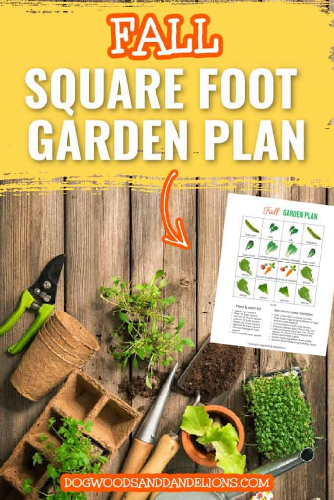 tools for a fall square foot garden