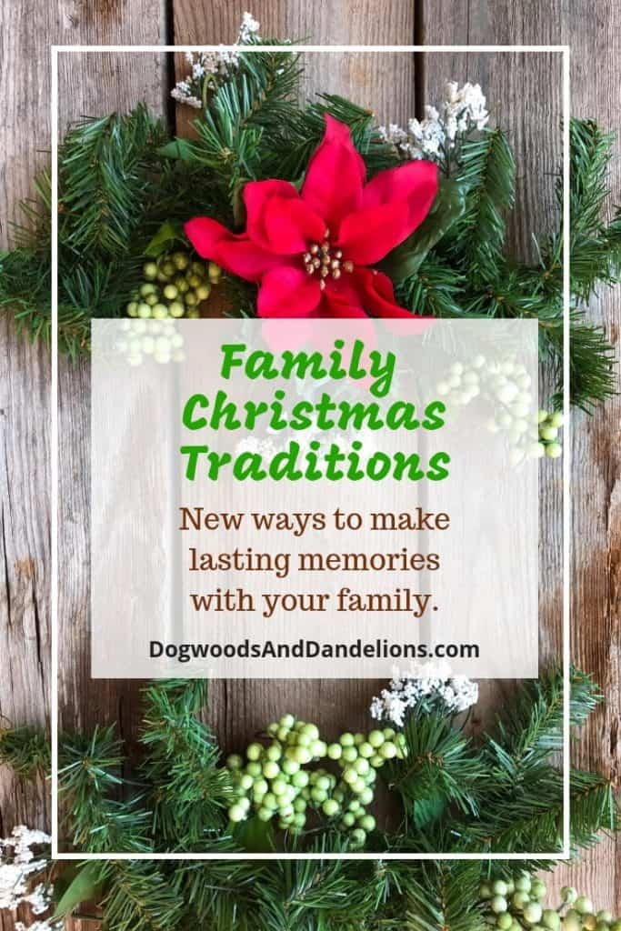 Christmas arrangement and family Christmas traditions