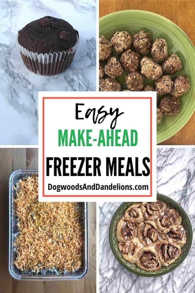 Easy make ahead freezer meals