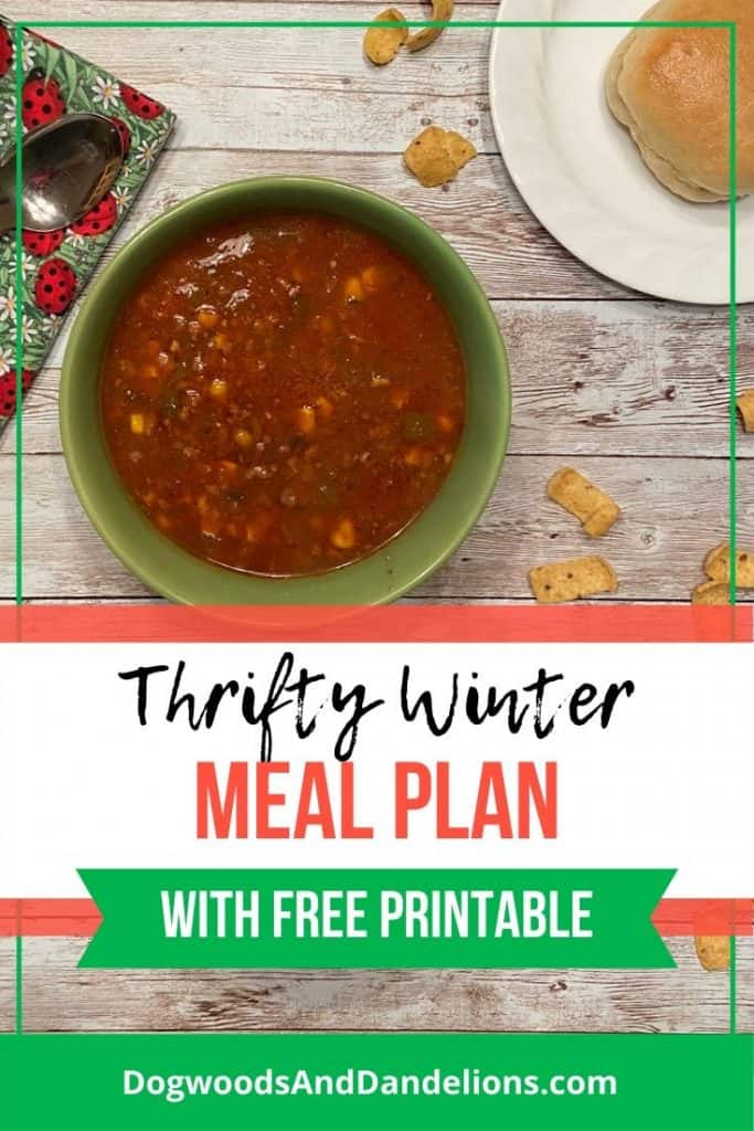 Frugal winter meal plan
