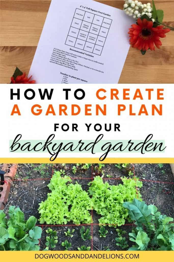 a garden plan