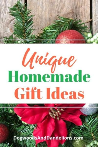 Unique homemade gift ideas