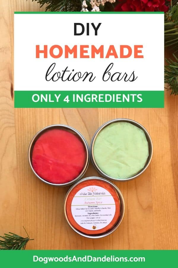 lotion bars are great to soothe dry, cracked skin