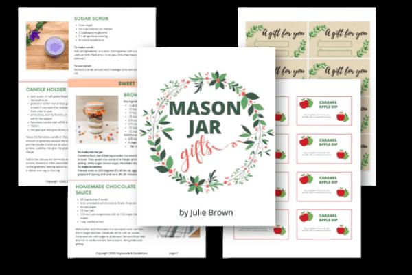 Mason jar gifts ebook sample pages
