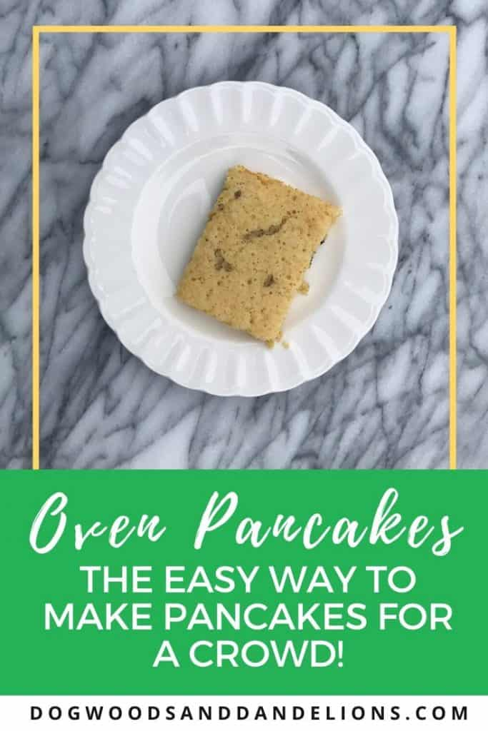 Oven pancakes are the simple way to fix pancakes for a crowd.