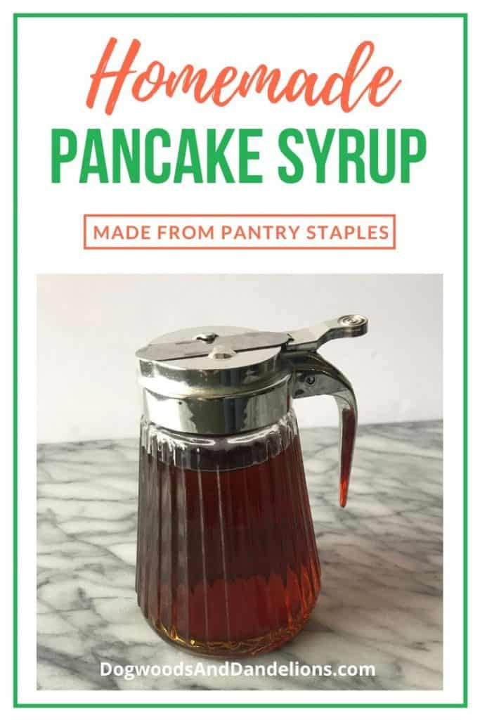 Homemade pancake syrup made from ingredients in your pantry