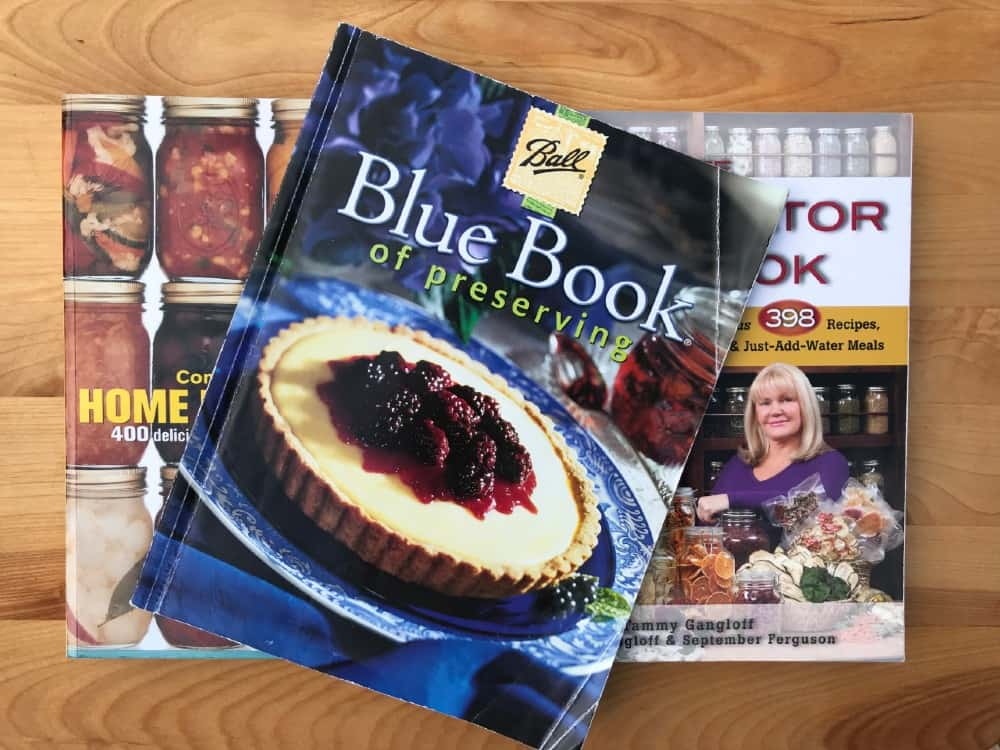 Books with recipes for preserving