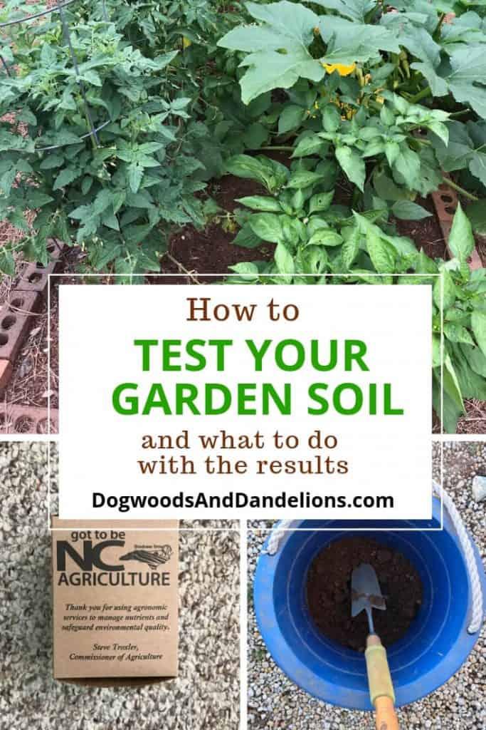 a raised garden bed, testing your garden soil, bucket of mixed soil