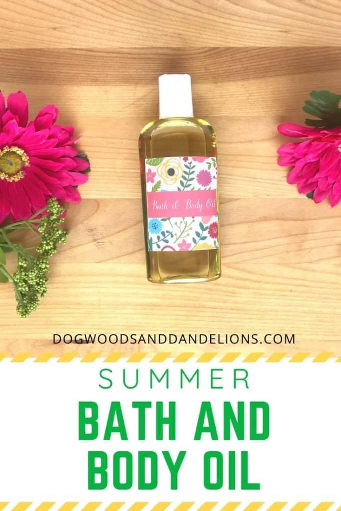 Summer bath and body oil
