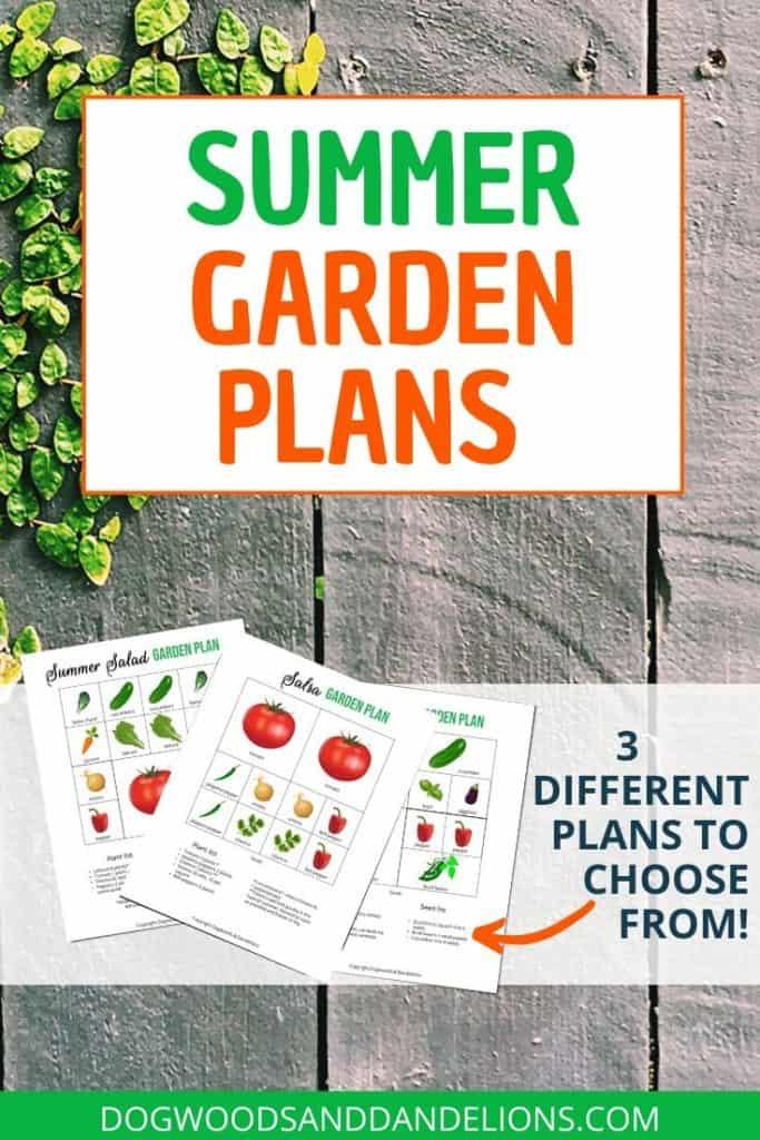 summer vegetable garden plans