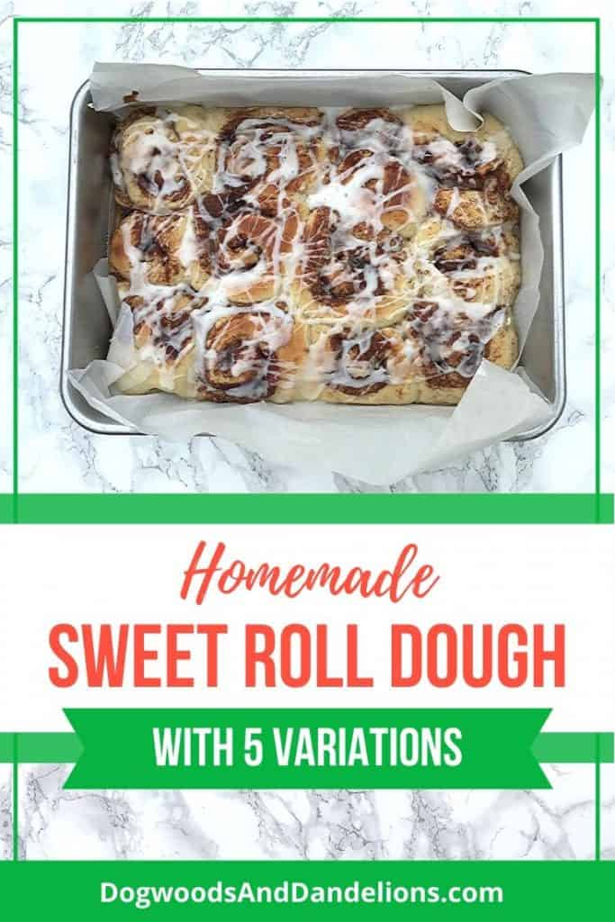 Sweet Roll Dough made into cinnamon rolls.