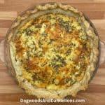Three cheese quiche recipe
