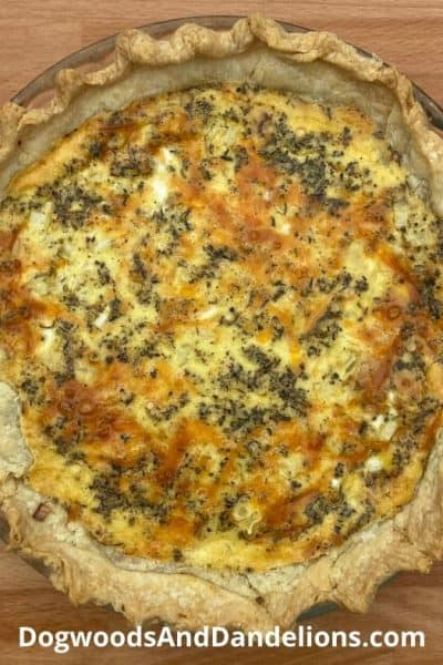Three cheese quiche recipe