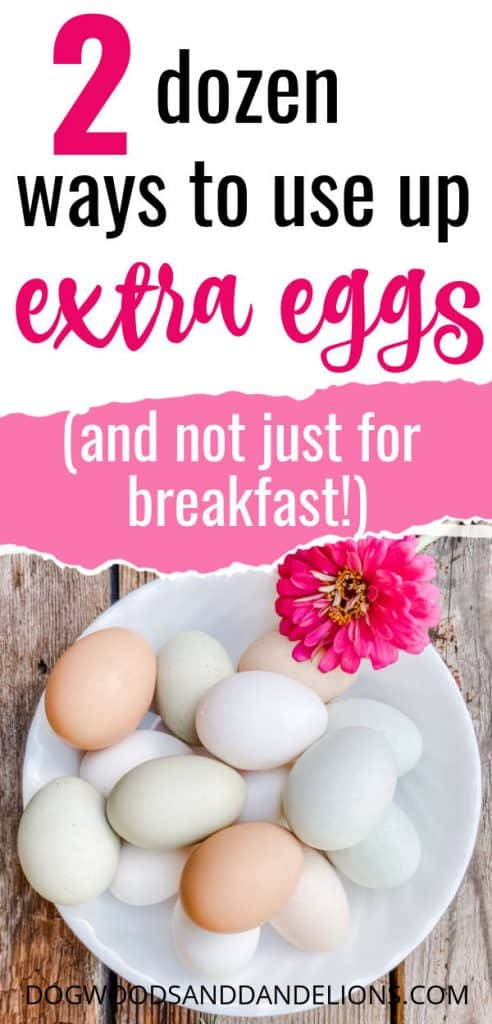 extra eggs in a bowl